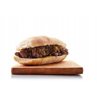 VARENNE - Panino con Bistecca di Cavallo, cime di rapa, olio e sale