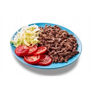 PRIMI - PIATTI Straccetti di cavallo con pomodoro fresco e insalata julienne
